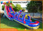 Silk Printing Commercial Banzai Inflatable Water Slides For Outdoor Entertainment