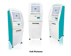 China Free Standing Touch Screen Hospital Printing self service Kiosk with Barcode Scanner on sale