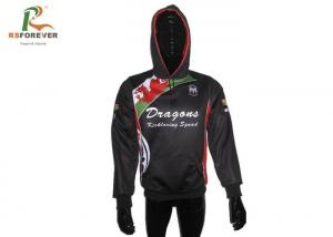China Fashional Custom Sublimated Polyester Hooded Jacket Waterproof Printed Pullover on sale