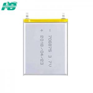China 706875 Lithium Ion Polymer Battery , Rechargeable Ternary Lithium Ion Battery on sale