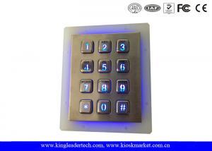 China Outdoor Security Backlit Metal Keypad Vandal Resistant Garage Illuminated Numeric Keypad on sale