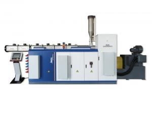 China Professional Single Screw Extruder , Small Extruder Machine Grooved Structure on sale