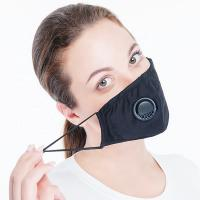 China Fashion Design Cotton Face Mask N95 Pollution Mask With Breathing Valve on sale