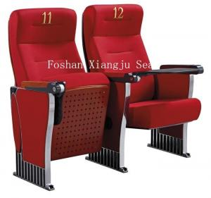 China Aluminum Legs Auditorium Theater Seating Ash Wood Veneer Finished XJ-389 on sale