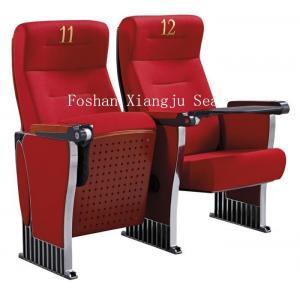 China Aluminum Legs Auditorium Theater Seating Ash Wood Veneer Finished XJ-389 on sale