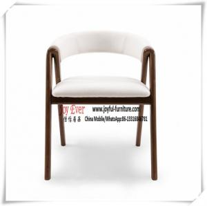 China Hotel Banquete Seating chair Classical design by Ash wood and White PU leather cushion on sale