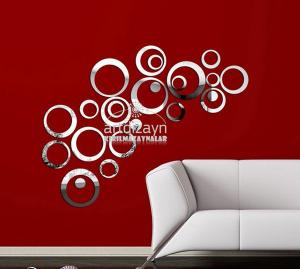 China DIY crystal mirror stickers style 3d wall stickers wall decorations stereo circle wall on sale