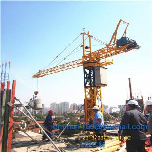China OEM Cheap QT10 Small Inner Tower Crane Inside Buildings 9 meter Load 700kg on sale
