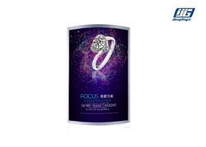 China Two Side LED Poster Display Snap Frame Light Box Arc - shaped Energy Saving on sale