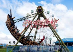China Outdoor Thrilling Swinging Pirate Ship Ride , FRP Material Pirate Ship Attraction on sale