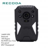 1440P HD 4G Wifi Body Camera Real Time Video GPS Fireproof 10 Hours Battery Life