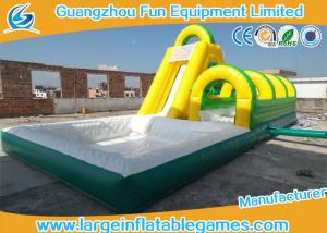 China Family Game Inflatable Bouncer Slide , Kids Outdoor Inflatable Water Slides on sale