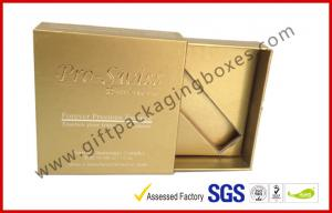 China Golden USB Drawer Luxury Gift Boxes With Foil And Embossed Logo on sale