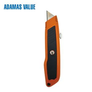 China Tool knife,paper cutter knife,retractable utility knife of ABS+TPR sharp point knife on sale