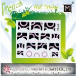 Black Flower 3D or 2D Art New French Nail Sticker, nail tip Decals