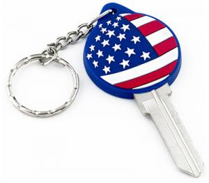 China PVC Patriotic American Flag Kw10 SC1 Key Blanks For Kwikset And Schlage Locks on sale