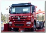 10 wheels 375 hp Howo Tractor Head Trucks in prime mover LHD or RHD red color