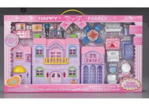 China Collapsible Pretend Play Dollhouse Children's Play Toys With Light And Sound on sale