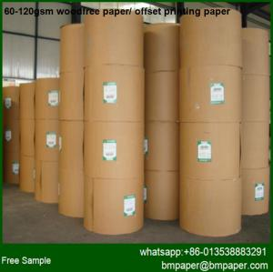 China 80GSM Roll Copy Base Paper for cutting a4 ,a3 , letter ,legal size office apllication on sale