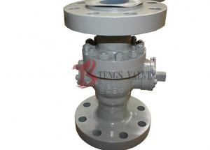 China Cast Steel Lockable Ball Valve Soft Seated Flanged To CL900LB Reduced Bore RB Q47F on sale