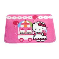 China Pink Hello Kitty Polyester Water Absorbing Rugs padded play mat for Kids on sale
