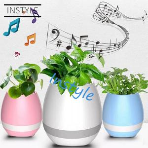 China Universal Smart Flower Pot Speakers Wireless Bluetooth Plant Pot Speakers Stereo Speaker for iPhone and Android on sale