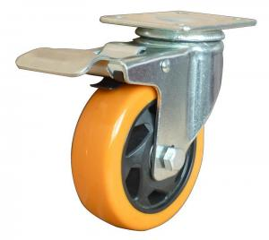 China Pvc Top Plate Swivel Caster With Lock Brake on sale