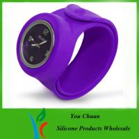 China Slap Band Wristwatch / Snap Watch Bands / Slap Watches For Boys / Girls on sale