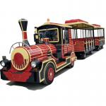 16 Persons Tourist Train Rides Mini Express Trackless Train 18km/H Steering System