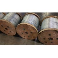China 1/4 Galvanized Steel Strand Cable Guy Wire Rope 1x7 Structure Packing 5000ft / Reel on sale