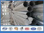 Poteau de puissance adapté aux besoins du client en métal de taille 69kv, aciers de construction faiblement alliés de haute résistance en acier tubulaires de Polonais