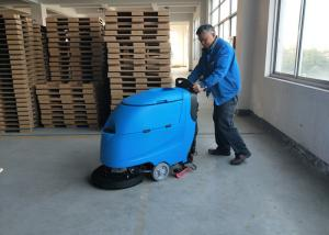 China Blue Color Battery Floor Scrubber / Full Automatic Floor Cleaning Equipment on sale