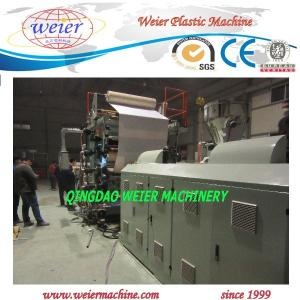China Plastic PVC marble sheet production line 120kw with PLC control on sale