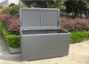 China Aluminum Frame Grey Plastic Wicker Storage Box 120 x 60 x 85cm on sale