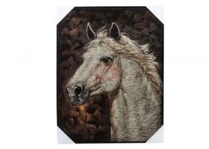 China Hand-painted canvas abstract animal oil painting Artworks of horse on sale
