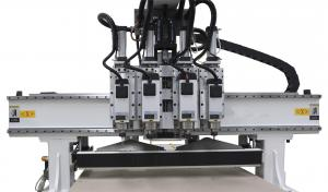 China Vacuum Table Cnc Wood Carving Machine , Artcam / Type3 Computerized Wood Router on sale
