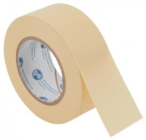 China Yellow Paint Masking Tape For Exterior Wall Crepe Paper Base Material on sale