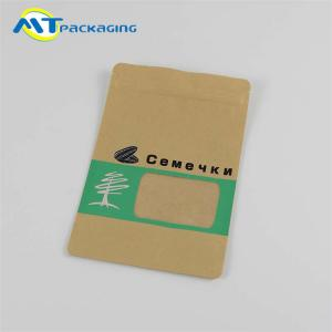 China Kraft Paper Material Snack Food Packaging Bags Convenient Storage Color Optional on sale