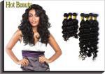 Extensões brasileiras do cabelo humano do Virgin de Remy da onda natural 12 - 32 preto