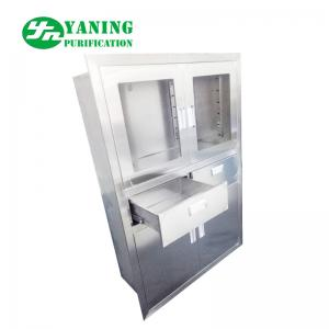 China Embedded Anesthesia Stainless Steel Medical Cabinet For Hospital Operateing Room on sale