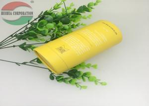 China Yellow Cardboard Cylinder Paper Tube Packaging For Honey Bottle Anti-rust on sale