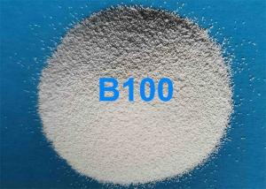 China Low Abrasion Ceramic Blasting Media B100 45 - 90μM For 3C Cellphone Rear Cover Surface Finish on sale
