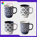 Metallic Glaze Stackable Coffee Mugs , Personalized Coffee Cup Tableware Set