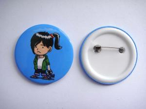 China Advertising Pin Back Button Badge on sale