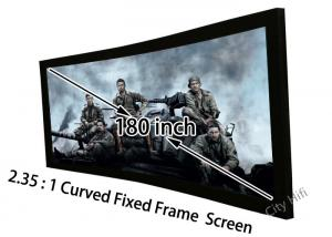 China 4K 20 Degree Curved Screen Beamer , 1591 x 3739mm Projection Screens For Churches on sale