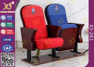China Fire Retardant Vintage Wooden Theatre Seating Chairs For Church Project on sale