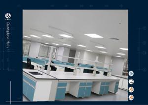 China Gas Water Service Dental Lab Furniture With Water Tap Acid Resistant on sale