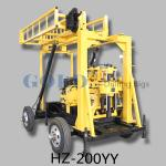 China water well drilling rig HZ-200YY drill up to 200 meters deep wholesale