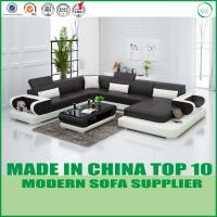 Modern Sectional  leisure corner woode   Leather Living Room Sofa Home Furniture