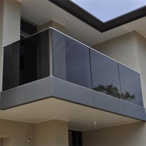 China Floor Mounted Stainless Steel Railing , Glass Balcony Balustrade Solid Structure on sale